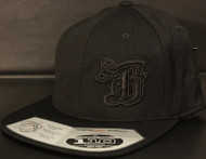 BR logo Black/Black on all Black 110 SNAPBACK Hat Sku # 0286S-010101-OSFA