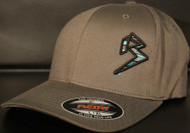 BLITZ Hat Black/Aqua/Charcoal on Dark Grey Curved Bill Sku # 0251C-157715