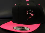BLITZ Hat Black/Hot Pink/White Classic SNAPBACK Hat Sku # 0251S-012402-OSFA