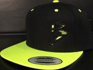 BLITZ Hat Black/Neon Yellow Classic SNAPBACK Hat Sku # 0251S-0110-OSFA