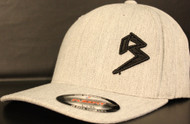 BLITZ Hat HEATHER GREY/BLACK Curved Bill Sku # 0251C-0901
