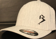 Original B emblem Heather Grey with Black B curve bill Flexfit hat Sku # 0281-0901