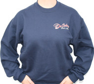 Walk With Him Navy Sweatshirt Front/Back Design