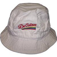 DeColores Bucket Hat White or Khaki
