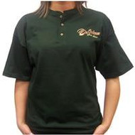 Walk With Him Short Sleeve Henley Forest Green