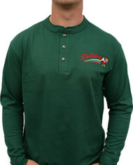 DeColores/Rainbow/Rooster Long SLeeve Henley F Green