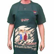 Walk With Him Apron Forest Green