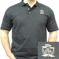 Emmaus Crest Design Black Polo