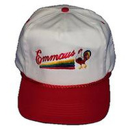 Emmaus/Rooster Golf Hat White/Red