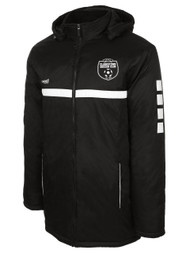 CLARSKTOWN SPARROW STADIUM JACKET -- BLACK WHITE