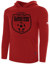 CLARKSTOWN BASIC HOODIE -- RED  ***** ITEM AVAILABLE ON 10/15