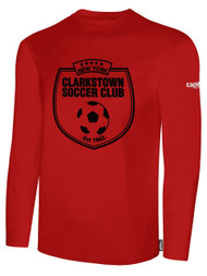 CLARKSTOWN BASIC LONG SLEEVE T-SHIRT -- RED  **** ITEM AVAILABLE ON 11/1