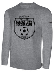 CLARKSTOWN BASIC LONG SLEEVE T-SHIRT -- LIGHT HEATHER GREY