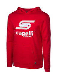 CLARKSTOWN CAPELLI SPORT YOUTH LOGO HOODIE -- RED WHITE