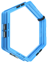 CAPELLI SPORT 6 PCS AGILITY HEXAGON GRID -- PROMO BLUE WHITE