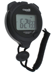 CAPELLI SPORT STOPWATCH -- BLACK WHITE