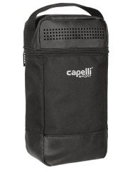 "CAPELLI SPORT 4 CUBE SHOE BAG (7"" L x 4.5"" W x 14"" H) -- BLACK SILVER"