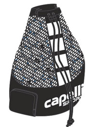 CAPELLI SPORT BALL BAG (HOLDS 15 SIZE 5 BALLS) -- BLACK WHITE **** ITEM AVAILABLE 10/15