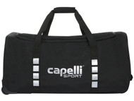 "CAPELLI SPORT WHEELED DUFFLE BAG (32"" L x 17.5"" W x 16"" H) -- BLACK SILVER **** ITEM AVAILABLE 11/10"