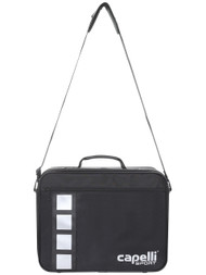 "CAPELLI SPORT PRO MEDICAL BAG ( 17.25"" L x 5.37"" W x 10.75"" H) -- BLACK SILVER"