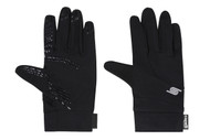 ADULT CS SOCCER FIELDER GLOVES WITH GRIPPERS -- BLACK