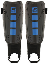 FOUR CUBES SHIN GUARDS WITH ANKLE STRAP -- BLACK PROMO BLUE