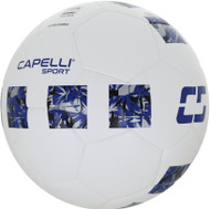 CAPELLI SPORT 4 CUBE CORSA  FIFA QUALITY THERMAL BONDED SOCCER BALL SIZE 5 -- WHITE ROYAL BLUE SILVER