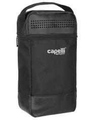 "CAPELLI SPORT 4 CUBE SHOE BAG   (7"" L x 4.5"" W x 14"" H) -- BLACK SILVER"