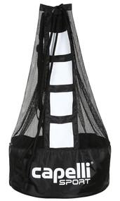 CAPELLI SPORT BALL BAG  (HOLDS 5 SIZE 5 BALLS) -- BLACK WHITE