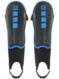 CAPELLI  SPORT CS FOUR CUBES SHIN GUARDS WITH ANKLE STRAP  -- BLACK PROMO BLUE