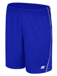 WYCKOFF YMCA  SHORTS-- ROYAL BLUE WHITE