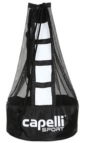BALL  BAG  ( HOLDS 5 SIZE 5 BALLS )     --   BLACK   WHITE