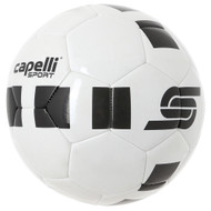 CS 4 CUBE MACHINE STITCHED SOCCER BALL --   WHITE BLACK