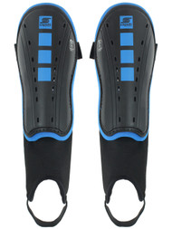 CS 4 CUBES SHIN GUARDS WITH ANKLE STRAP   --  BLACK PROMO BLUE
