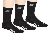 EASTERN CS CUSHIONED CREW SOCKS -- BLACK