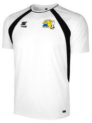 EASTERN NY  RAVEN TRAINING SHORT SLEEVE PREGAME JERSEY --  WHITE BLACK