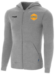 CPSC BASICS ZIP UP HOODIE W EMBROIDED LOGO -- LIGHT HEATHER GREY
