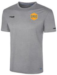 CPSC BASICS I SHORT SLEEVE TRAINING TOP -- LIGHT HEATHER GREY