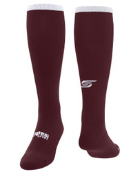 KINGS PARK CS ONE SOCK -- MAROON WHITE