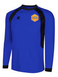CHELSEA PIERS  RAVEN LONG SLEEVE GOALIE JERSEY--ROYAL BLUE BLACK