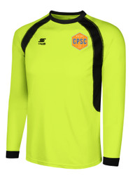 CHELSEA PIERS  RAVEN LONG SLEEVE GOALIE JERSEY--LIME BLACK