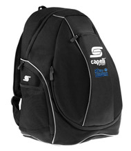 HCI PRO CS ONE TEAM UTILITY SOCCER BACKPACK -- BLACK WHITE