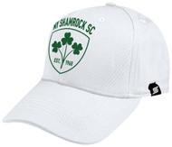 NY SHAMROCKS BASEBALL CAP -- WHITE BLACK