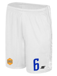 CHELSEA PIERS  U15 - U16 SHORTS -- WHITE BLACK