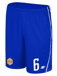 CHELSEA PIERS  U15 - U16 SHORTS -- ROYAL BLUE WHITE