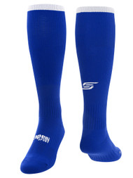 CHELSEA PIERS U15 - U16 SOCCER SOCK --  ROYAL BLUE WHITE