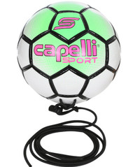 CS BOWERY HAND STITCHED SOCCER BALL-- NEON GREEN WHITE BLACK