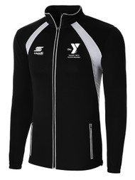 WYCKOFF  YMCA TRAINING JACKET -- BLACK WHITE