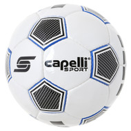 CS ASTOR HAND STITCHED SOCCER BALL -- WHITE PROMO BLUE