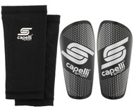 CS  GRADIENT CUBES SHIN GUARDS  --  BLACK SILVER METALLIC